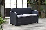 Набор садовой мебели Carolina Lounge Set Graphite ( графит ) из искусственного ротанга ( Allibert by Keter ), фото 6