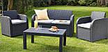 Набор садовой мебели Carolina Lounge Set Graphite ( графит ) из искусственного ротанга ( Allibert by Keter ), фото 10