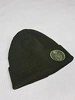 Шапка вязаная хаки с кокардой Нацгвардия, фото 1