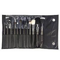 Подарок к Рождеству Набор кистей для макияжа CROWN Brush 12pc Pro Gunmetal Set 802