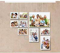 Фотостіна 04/9 з 9 рамок (галерейна система підвіски)