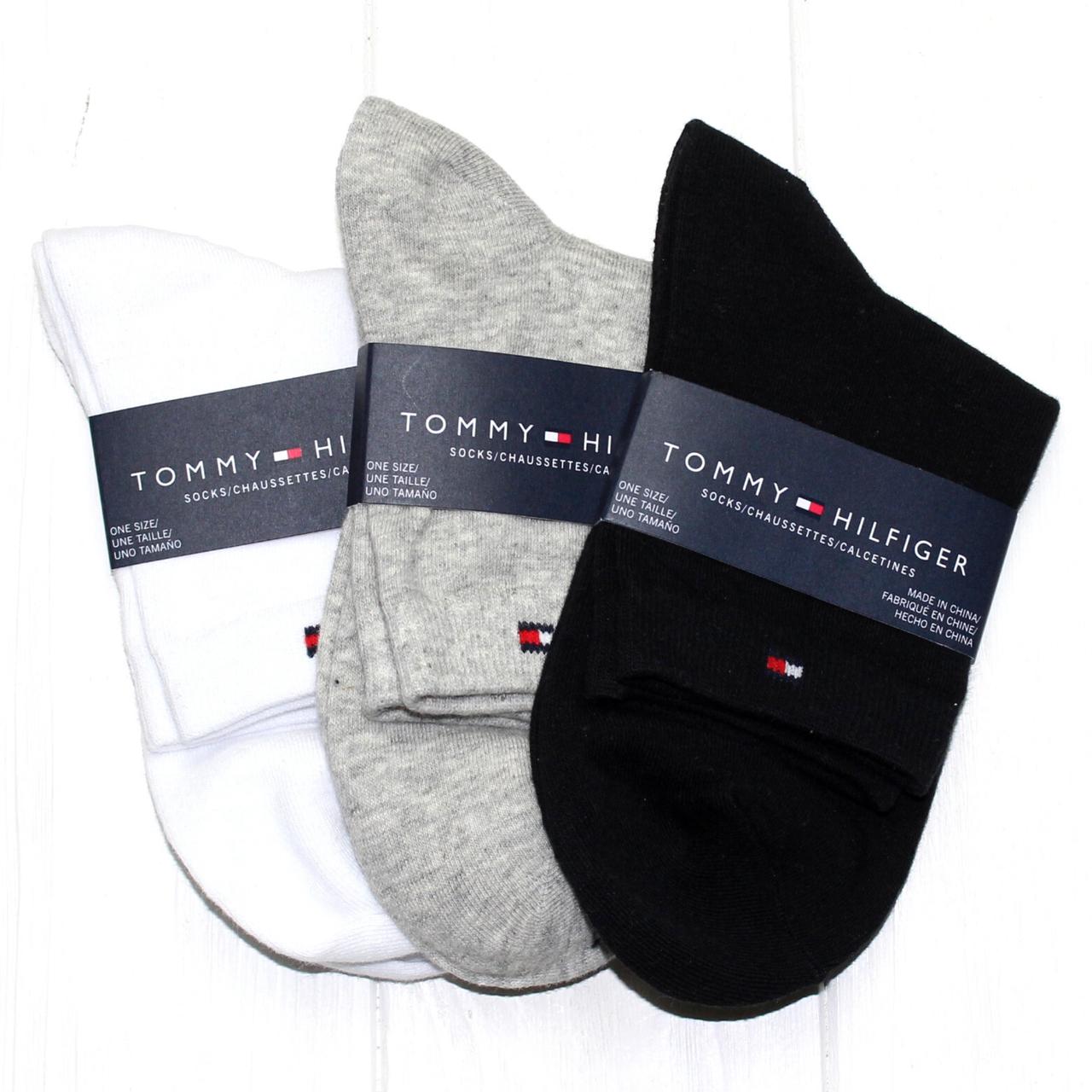 Носки мужские брендовые набор Томму Хилфигер 3шт хлопок