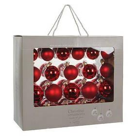 """Набор елочных шариков """"House of Seasons"""" 42 шт Серые (Time Eco TM) Красный"""