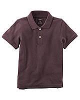 Стильная однотонная футболка-поло Картерс для мальчика