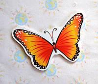 Бабочка оранжевая. Настенная декорация для детского сада.