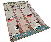 Детский развивающий игровой коврик «Панда парк / Городские приключения» 1800×1200×12мм + чехол