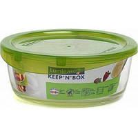 Пищевой контейнер Keep`N круглый зелёный с крышкой 920 мл (P4526)
