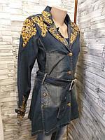 Кардиган женский джинсовый с вышивкой