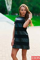 Черное платье с коротким рукавом