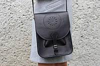 Кожаная сумка-планшет для документов, большая сумка черного цвета, формат А4, фото 1