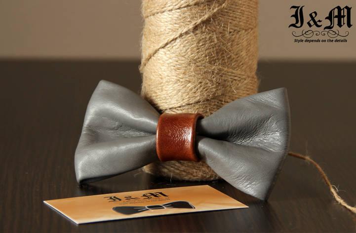 Кожаная галстук-бабочка I&M (010820), фото 2