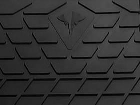 Skoda Superb 2015- Коврик перемычка / накладка между задними коврами Черный в салон