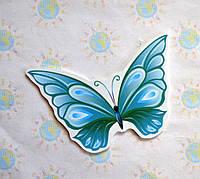 Бабочка голубая. Настенная декорация для детского сада.