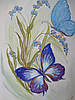 "Картина ""Бабочки в незабудках"""