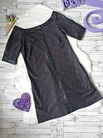 Платье Poliit с кожаными вставками