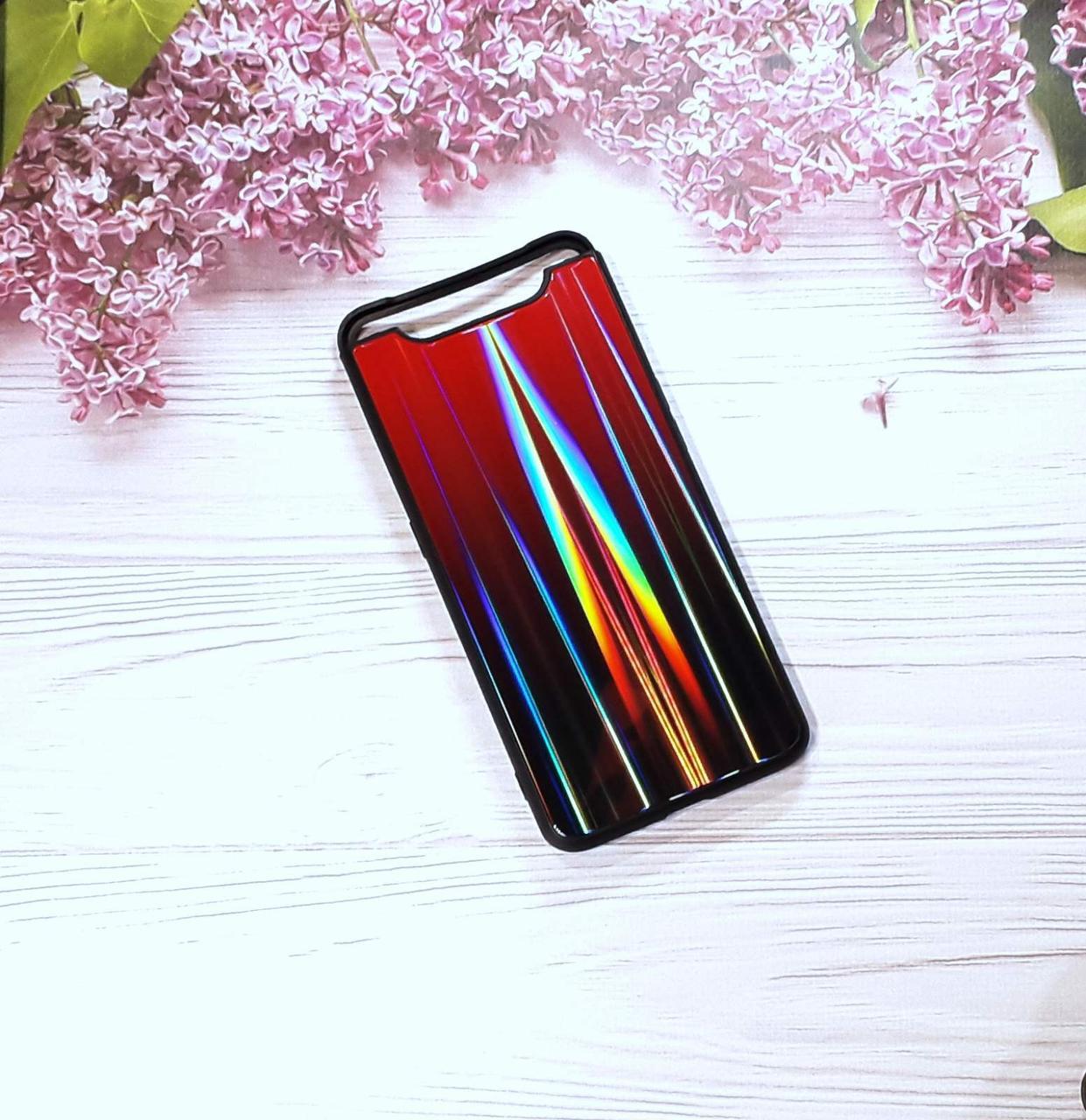 Чохол Glass Gardient для Samsung A80 (2019), Red