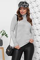 Гольф женский, свитер под горло 1847 светло-серый