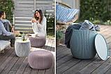 Набір садових меблів Urban Knit Set ( Cozy Set ) з штучного ротанга ( Allibert by Keter ), фото 6