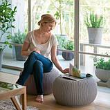 Набір садових меблів Urban Knit Set ( Cozy Set ) з штучного ротанга ( Allibert by Keter ), фото 9