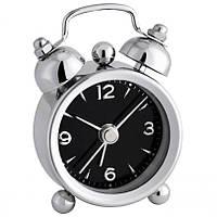 Будильник (часы аналоговые) TFA Mini-Nostalgie, Silver-black