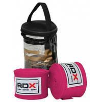 Боксерские бинты RDX Fibra Pink 4.5m