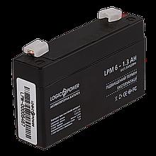 Аккумулятор AGM LogicPower LPM 6-1,3 AH.