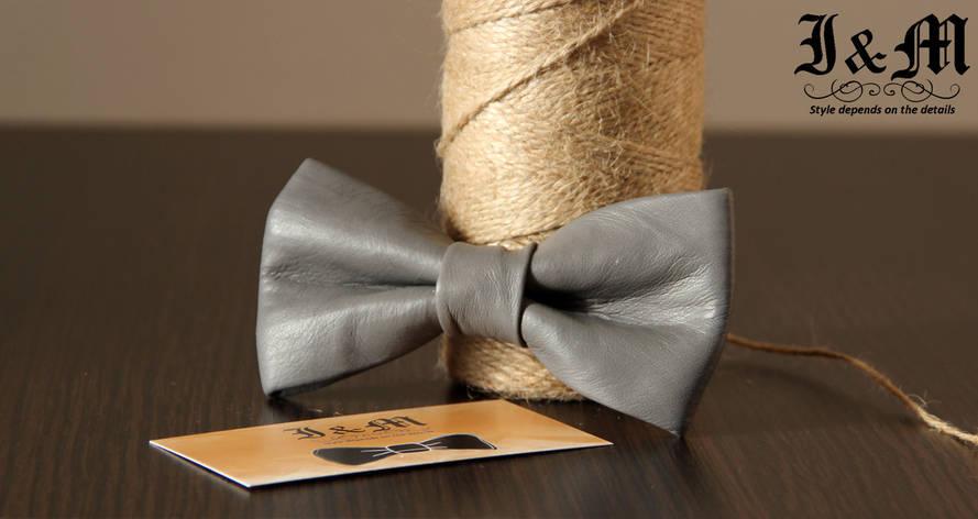 Кожаная галстук-бабочка I&M (010822), фото 2