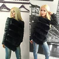 Короткая женская теплая куртка