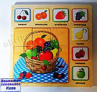 Игра пазлы деревянные - Фрукты, 30х30см. (19491)