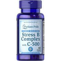 Витамины и минералы Puritan's Pride Stress Vitamin B Complex with Vitamin C 500 Timed Release (60 таб)