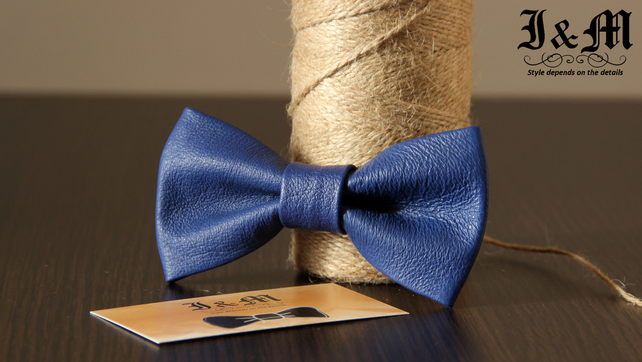 Кожаная галстук-бабочка I&M (010823)