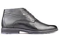 Кожаные ботинки мужские зимние классические черные Mida 14200 (1)