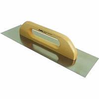 Гладилка стальная нержавеющая с деревянной ручкой 380 мм
