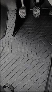 Volkswagen T6 (1+2) 2015- Комплект из 3-х ковриков Черный в салон