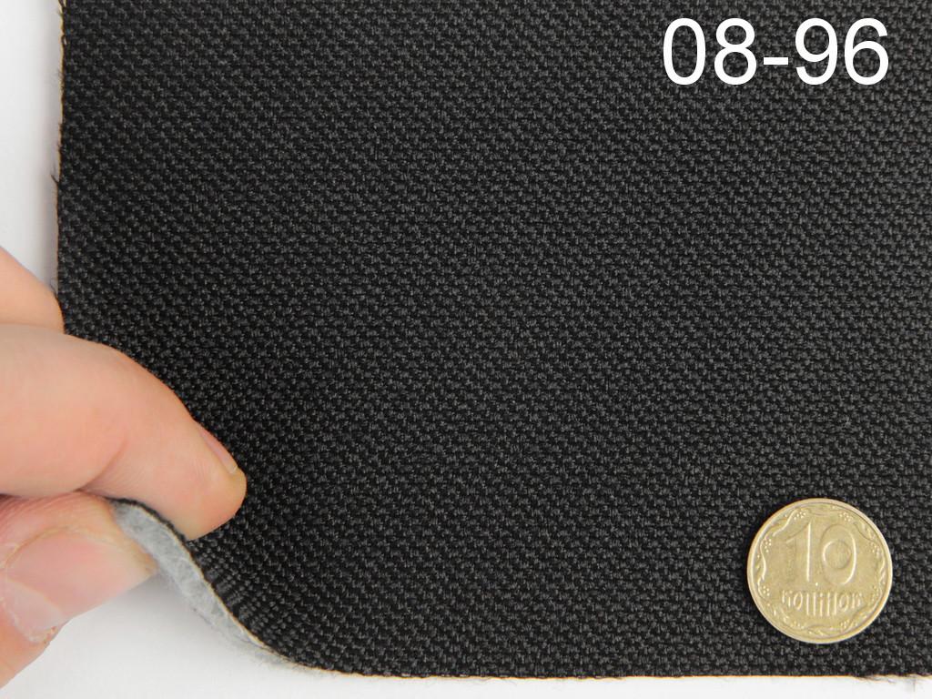 Авто-ткань (Германия) для боковой части автомобиля, черная, на войлоке, ширина 1.75м 08-96