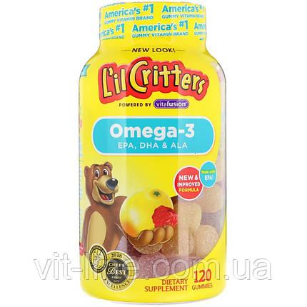 L il Critters, Омега-3, зі смаком малини та лимонаду, 120 жувальних цукерок, фото 2