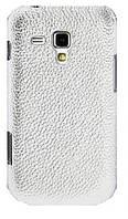 Кожаный чехол-накладка для телефона Melkco Snap leather cover for Samsung S7562 Galaxy S DuoS, white (SS7562LOLT1WELC)