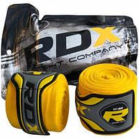 Боксерские бинты RDX Fibra Yellow 4.5m