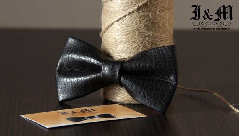 Кожаная галстук-бабочка I&M (010827), фото 2