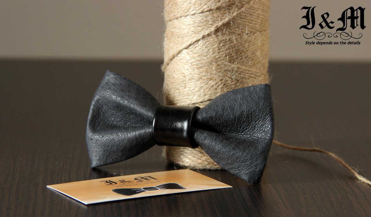 Кожаная галстук-бабочка I&M (010828)