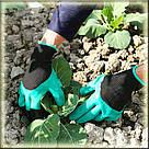 Перчатки садовые с когтями Garden Gloves для сада и огорода TyT, фото 5