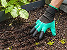 Перчатки садовые с когтями Garden Gloves для сада и огорода TyT, фото 6