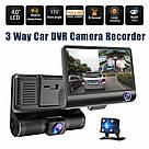 """Автомобильный видеорегистратор на 3 камеры Recorder 4 """"HD 1080P TyT, фото 4"""