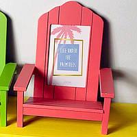 Рамка для фото в форме стула, коралловая (IMP_50_2_PINK)
