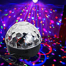 MP3 Диско-куля проектор LED Crystal Magic Ball Light колонка БЕЗ БЛЮТУЗ TyT, фото 3