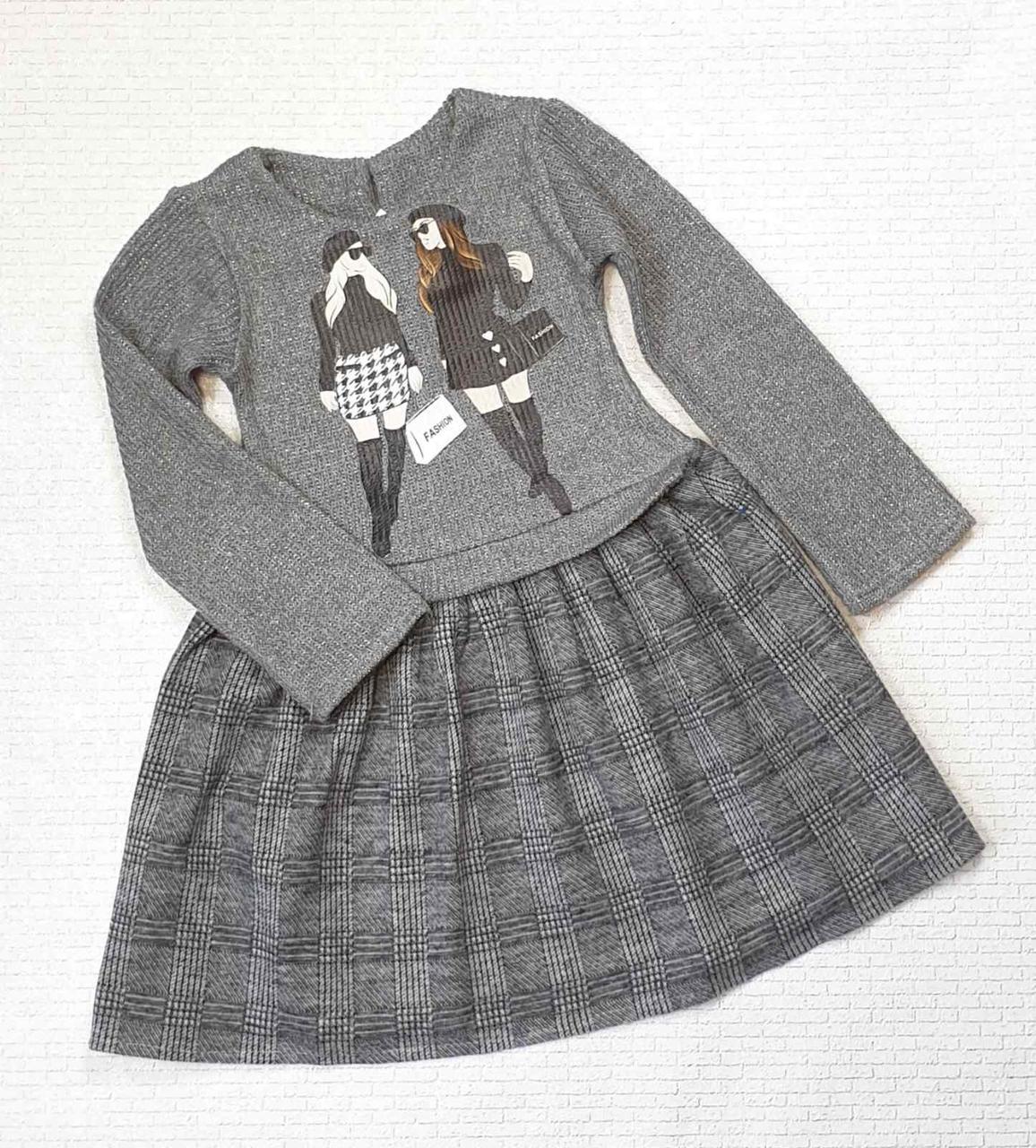 Детское платье для девочки с принтом р.92-110 опт