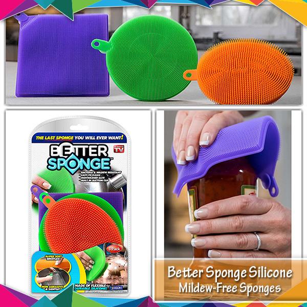 Набор универсальных силиконовых щеток- губок Better Sponge TyT