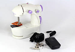 Портативная швейная машинка 4 в 1 с адаптером 220 и педалью TyT