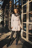 Женское двубортное пальто из кашемира на подкладке
