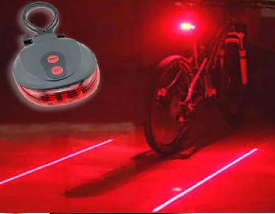 Велофонарь, габарит лазер, задний велофонарь с лазерами TyT